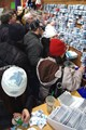 Swarms of people looking to purchase pins during the 2010 Olympics in Vancouver, BC
