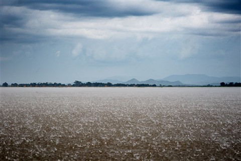 Monsoon rain on the Irrawaddy