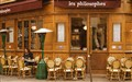 The Philosopher - Paris sidewalk cafe