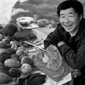 The gourd seller at BeiJiCun...the most northern village in China
