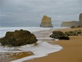 Ragged, Weathered Rocks, Calm Smooth Seas