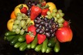 A beautiful fruit arrangement on a platter taken with my entry level Canon DSLR...