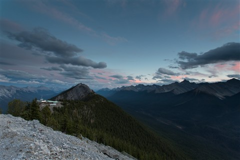 Sunset at Sulphur Mountain