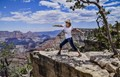 Enjoying the awesome view on the South Rim of Grand Canyon, Az.