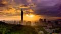 Sunset Taipei landscape