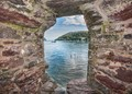 Castle porthole, Dartmouth, Devon