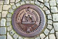 Sewer cover from Stavanger, Norway.