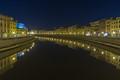 Arno from Ponte di Mezzo in Pisa