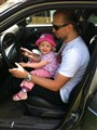 My lil doughter and me - first driving lesson :))