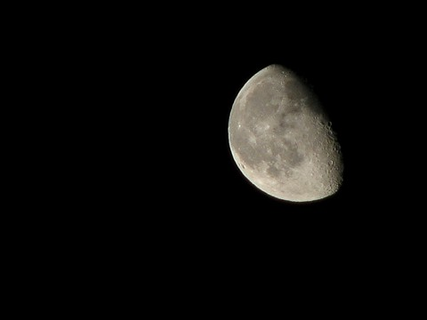 The moon with a point and shoot camera