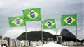 Brazilian flags and Sugar Loaf
