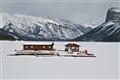 Frozen Boat Dock Banff