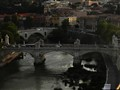 Roma, sunset on Tevere