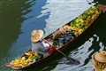 Floating market seller
