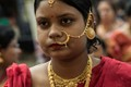 Bling,Indian woman,in ceremonial dress,gold