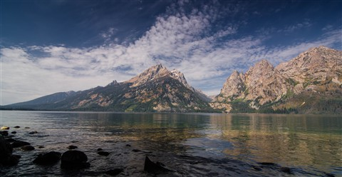 Tetons from Jenny lake