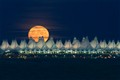 Denver Airport Moonrise