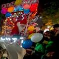 Annual bad Santa photo-Vexed Santa,at 2016 year -end Carnival