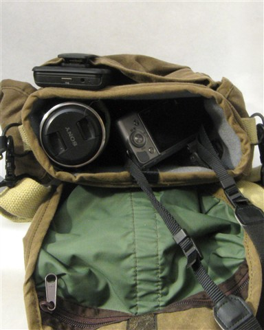 Domke F8 bag with Nex-5N, EVF and lenses
