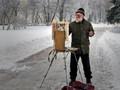 Santa Claus-painter