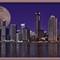 Brisbane dusk colours & moon_framed