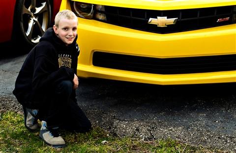 Drew with Yellow Camaro