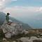 Watching at lake Garda from above