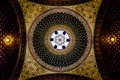 The stunning ceiling of the Spanish Synagoque in Prague