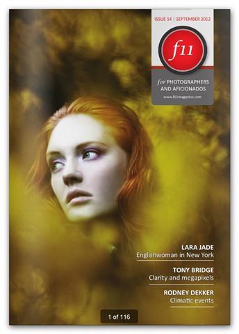 f11 magazine cover, September 2012