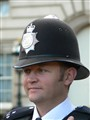 A kind looking policeman