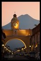 Antigua Guatemala Sunset with Water Vulcano