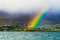 Rainbow in heavy fog