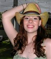 American Cowgirl in Coyboy Hat