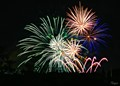Canada Day fireworks in Regina, Saskatchewan.