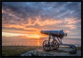 Old canon in vicinity of Hartlepool UK