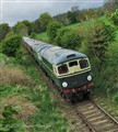 Diesel Train on Caledonian Railway