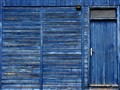 blue wooden house