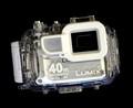 The Panasonic TS3 in its Waterproof Case
