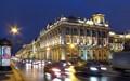 Rainy autumn evening in St. Petersburg