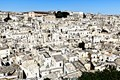 "A sunny view of Matera ""Stones"" (Sassi), that are habitations dug into the calcareous rock."