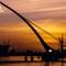 The Samuel Beckett bridge at dawn