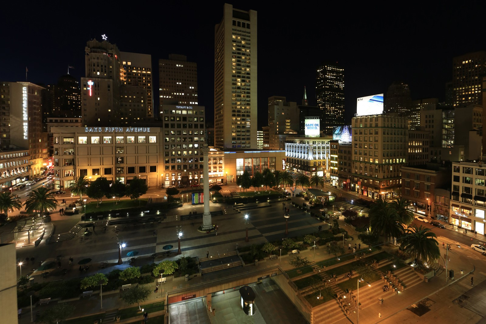 what to do in union square san francisco at night