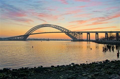 Bayonne Bridge in Winter