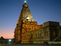 Thanjavur Brihadeeswara Temple at Sunset