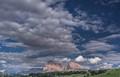 Clouds above Sassolungo & Sassopiatto Mountains, Italy