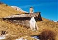 High mountain pastures church