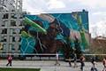 Building art along the Hi-Line. Chelsea, NY