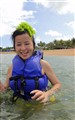 Seaweed found on head after jump out of water