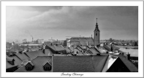 Smoking chimneys B&W