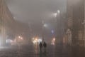 Misty night in Vicenza (Italy)
